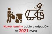 Nowe terminy odbioru odpadów komunalnych!