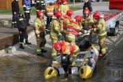 Pożar i wypadki nad zalewem Zimna Woda